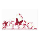 Red butterflies Profile Card Business Card Templates