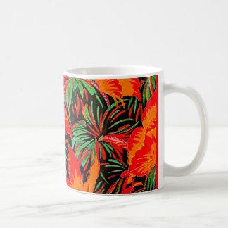 Red Butterflies Tropical Coffee Mug