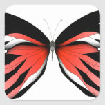 Red Butterfly 2 by tony fernandes Square Sticker
