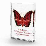 Red Butterfly Acrylic Award