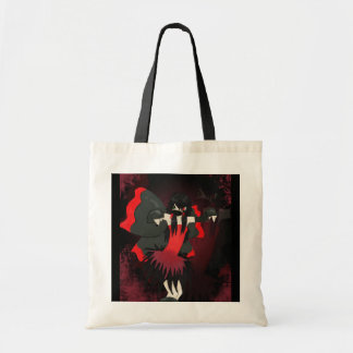 Red butterfly canvas bag