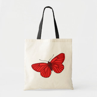 Red Butterfly Budget Tote Bag