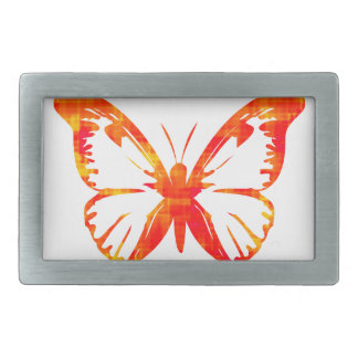 Red Butterfly Rectangular Belt Buckles