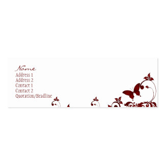 Red Butterfly Business Card Templates