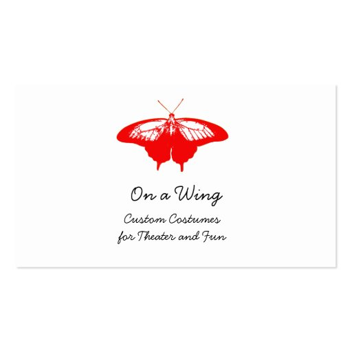 Red butterfly business cards zazzle for Butterfly business cards