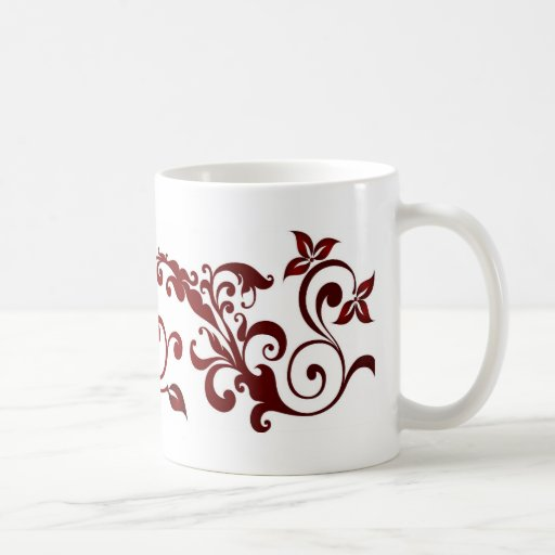 Red Butterfly Coffee Mugs
