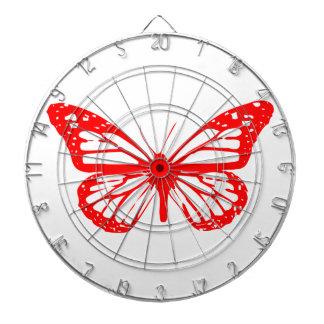 Red Butterfly Dart Board