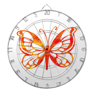 Red Butterfly Dartboard With Darts