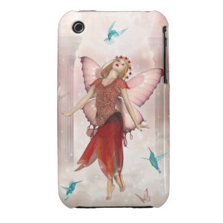 Red Butterfly Fairy iPhone 3 Cover