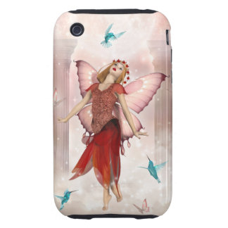Red Butterfly Fairy iPhone 3 Tough Cover