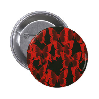 red butterfly from dark night  background pinback button