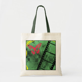 Red Butterfly Grunge Tote Tote Bag