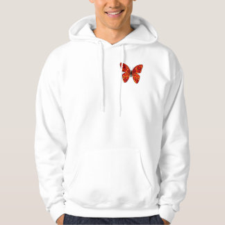 Red butterfly hoodie