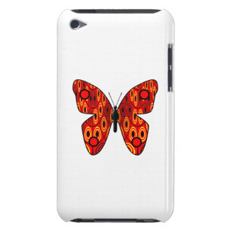 Red butterfly iPod touch Case-Mate case