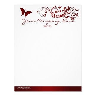 Red Butterfly Letterhead