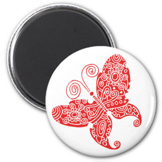 Red Butterfly Magnet