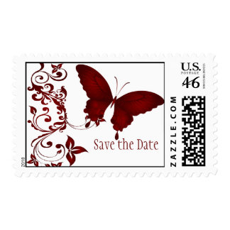 Red Butterfly Matching Postage Stamp