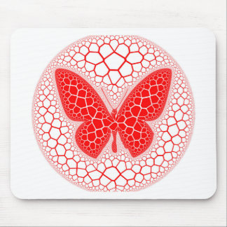Red Butterfly Mouse Pad