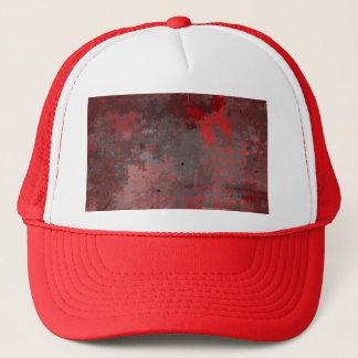 RED BUTTERFLY ON RAKU TRUCKER HAT