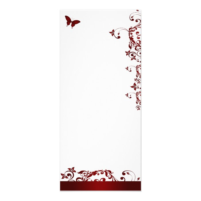 Red Butterfly Rack Card