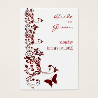 Red Butterfly Save the Date for Weddings Business Card