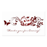 Red Butterfly, Thanks you Cards for Wedding Business Card