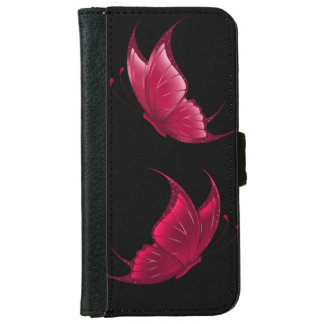 Red Butterfly Wallet Case