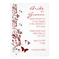Red Butterfly Wedding Invitation (<em>$1.90</em>)