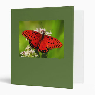 Red Butterfly with Edges Vinyl Binder