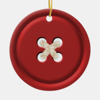 Red Button Christmas Ornament
