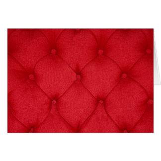 Red Button Cushion Card