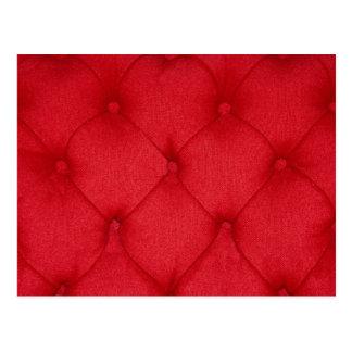 Red Button Cushion Postcard