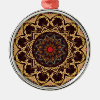 Red Button Flower Metal Ornament