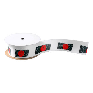 Red Button Satin Ribbon