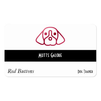 Red Button Style Gradient Dog Business Card Templates