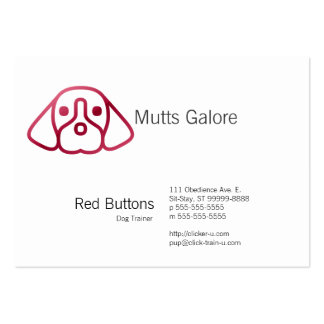 Red Button Style Gradient Dog Large Business Card