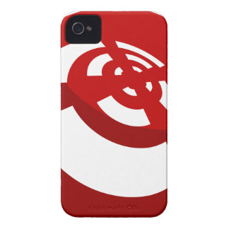 Red Button Wireless Signal Case-Mate iPhone 4 Cases