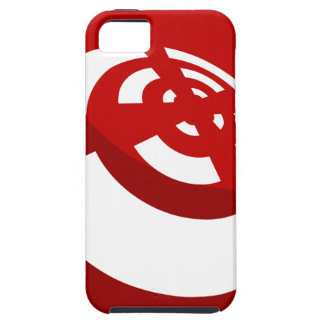 Red Button Wireless Signal iPhone 5 Covers