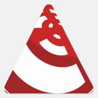 Red Button Wireless Signal Triangle Sticker