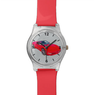 Red C5 Corvette convertible Muscle Car Wrist Watch