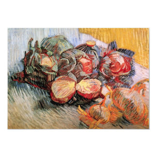 Red Cabbages and Onions by van Gogh Card