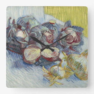 Red Cabbages and Onions by Vincent Van Gogh Wall Clock