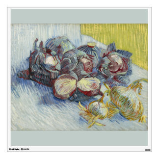 Red Cabbages and Onions by Vincent Van Gogh Wall Decal