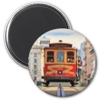 Red Cable Car Magnet