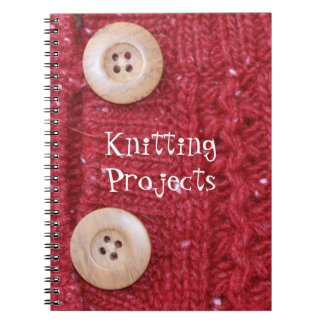 Red Cable Knit and Two Buttons Journals