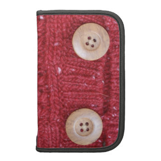Red Cable Knit and Two Buttons Planner