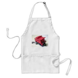 Red Caboose Adult Apron
