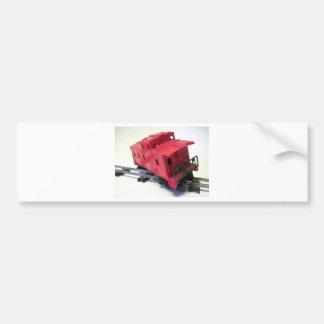 Red Caboose Bumper Sticker