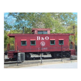 Red Caboose.  Ellicott City, MD Postcard