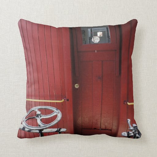 Red Caboose Pillow